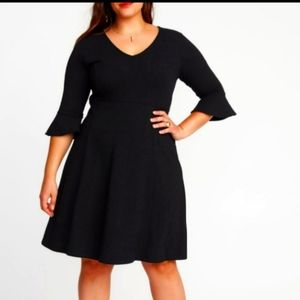 🆕 Old Navy Flute Bell Sleeve Dress Fit Flare